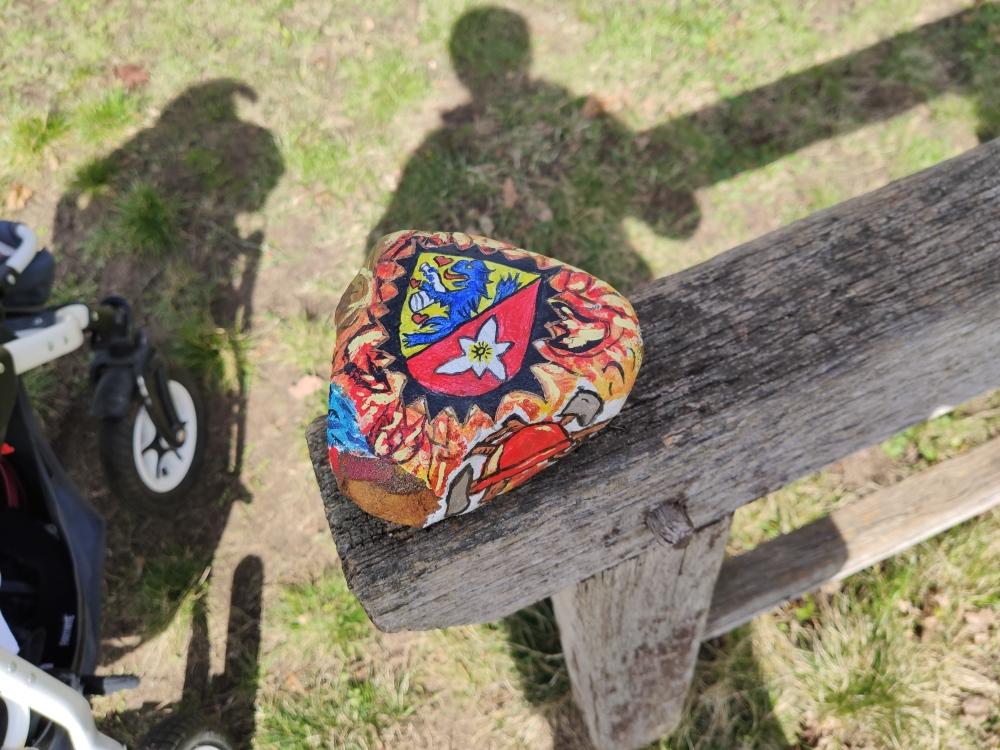 Stein mit Didderse Wappen